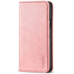 TUCCH iPhone 12 Pro Max Wallet Case - iPhone 12 Pro Max 6.7-Inch Flip Cover With Magnetic Closure-Rose Gold