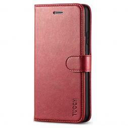 TUCCH New iPhone SE 2nd 2020 iPhone 7/8 Wallet Case Folio Style Kickstand With Magnetic Strap-Dark Red