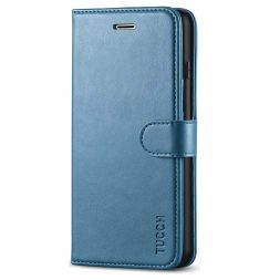 TUCCH iPhone 7/8 Plus Wallet Case Folio Style Kickstand With Magnetic Strap-Lake Blue