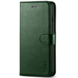 TUCCH iPhone 7/8 Plus Wallet Case Folio Style Kickstand With Magnetic Strap-Midnight Green