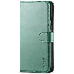 TUCCH iPhone XS Max Wallet Case Folio Style Kickstand With Magnetic Strap-Myrtle Green