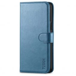 TUCCH iPhone XS Max Wallet Case Folio Style Kickstand With Magnetic Strap-Lake Blue