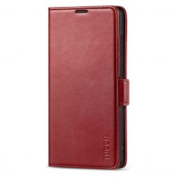 TUCCH SAMSUNG Galaxy Note20 Ultra Wallet Case Folio Style Kickstand With Dual Magnetic Clasp Tab-Dark Red