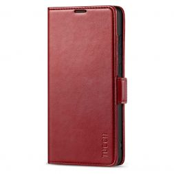 TUCCH SAMSUNG Galaxy Note20 /5G Wallet Case Folio Style Kickstand With Dual Magnetic Clasp Tab-Dark Red