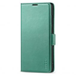 TUCCH SAMSUNG Galaxy Note20 /5G Wallet Case Folio Style Kickstand With Dual Magnetic Clasp Tab-Myrtle Green