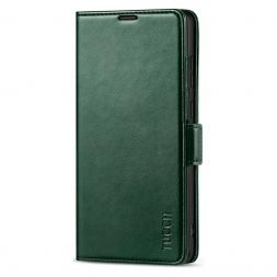 TUCCH SAMSUNG Galaxy Note20 /5G Wallet Case Folio Style Kickstand With Dual Magnetic Clasp Tab-Midnight Green