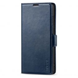 TUCCH Samsung S21 Ultra Wallet Case, Samsung Galaxy S21 Ultra 5G Flip PU Leather Cover, Stand with RFID Blocking and Magnetic Closure-Dark Blue