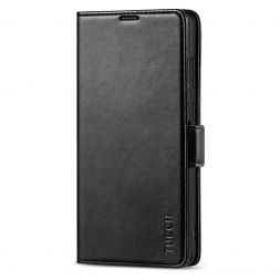 TUCCH SAMSUNG Galaxy Note20 Ultra Wallet Case Folio Style Kickstand With Dual Magnetic Clasp Tab-Black