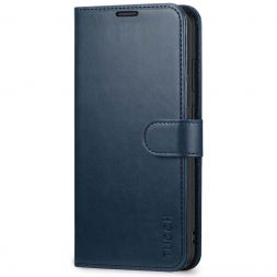 TUCCH Samsung Galaxy S20 Wallet Case Folio Style Kickstand With Magnetic Strap-Blue