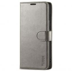 TUCCH Samsung Galaxy S20 Wallet Case Folio Style Kickstand With Magnetic Strap-Gray