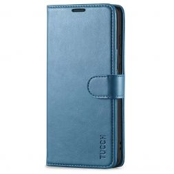 TUCCH Samsung Galaxy S20 Wallet Case Folio Style Kickstand With Magnetic Strap-Lake Blue