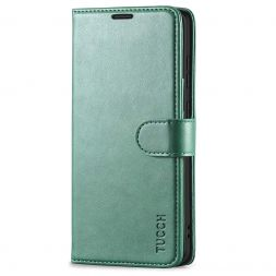 TUCCH Samsung Galaxy S20 Wallet Case Folio Style Kickstand With Magnetic Strap-Myrtle Green