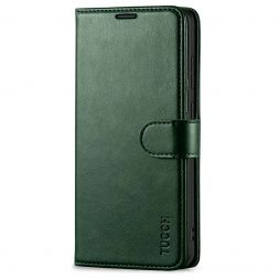 TUCCH Samsung Galaxy S20 Wallet Case Folio Style Kickstand With Magnetic Strap-Midnight Green