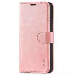 TUCCH Samsung Galaxy S20 Wallet Case Folio Style Kickstand With Magnetic Strap-Rose Gold