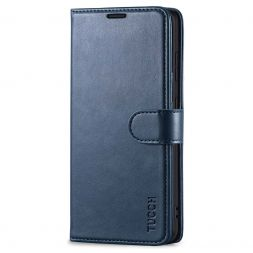 TUCCH Samsung Galaxy S20FE Wallet Case Folio Style Kickstand With Magnetic Strap-Dark Blue