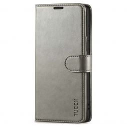TUCCH Samsung Galaxy S20FE Wallet Case Folio Style Kickstand With Magnetic Strap-Gray