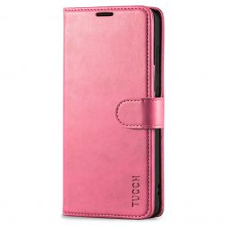 TUCCH Samsung Galaxy S20FE Wallet Case Folio Style Kickstand With Magnetic Strap-Hot Pink