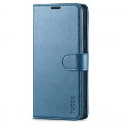 TUCCH Samsung Galaxy S20FE Wallet Case Folio Style Kickstand With Magnetic Strap-Lake Blue