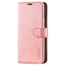 TUCCH Samsung Galaxy S20FE Wallet Case Folio Style Kickstand With Magnetic Strap-Rose Gold