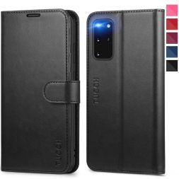 TUCCH Samsung Galaxy S20 Plus /5G Wallet Case Folio Style Kickstand With Magnetic Strap