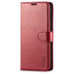 TUCCH Samsung Galaxy S20 Plus /5G Wallet Case Folio Style Kickstand With Magnetic Strap-Dark Red