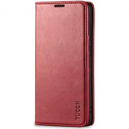 TUCCH Samsung S20 Plus Wallet Case, Galaxy S20 Plus /5G Flip Cover, Stand with RFID Blocking and Magnetic Closure-Dark Red