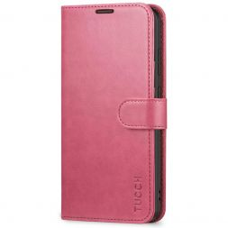 TUCCH Samsung Galaxy S20 Ultra Wallet Case Folio Style Kickstand With Magnetic Strap-Hot Pink