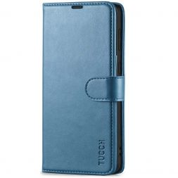 TUCCH Samsung S21 Wallet Case, Samsung Galaxy S21 5G Flip PU Leather Cover, Stand with RFID Blocking and Magnetic Closure-Lake Blue