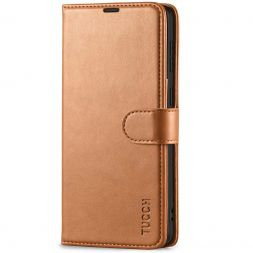 TUCCH Samsung S21 Wallet Case, Samsung Galaxy S21 5G Flip PU Leather Cover, Stand with RFID Blocking and Magnetic Closure-Light Brown