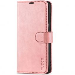 TUCCH Samsung S21 Wallet Case, Samsung Galaxy S21 5G Flip PU Leather Cover, Stand with RFID Blocking and Magnetic Closure-Rose Gold