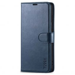 TUCCH Samsung Galaxy S21FE Wallet Case Folio Style Kickstand With Magnetic Strap for Samsung S21 FE-Dark Blue