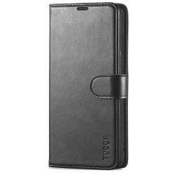 TUCCH Samsung Galaxy S21FE Wallet Case Folio Style Kickstand With Magnetic Strap for Samsung S21 FE-Black