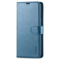 TUCCH Samsung Galaxy S21FE Wallet Case Folio Style Kickstand With Magnetic Strap for Samsung S21 FE-Light Blue