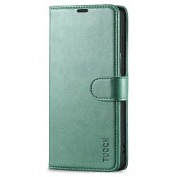 TUCCH Samsung Galaxy S21FE Wallet Case Folio Style Kickstand With Magnetic Strap for Samsung S21 FE-Myrtle Green
