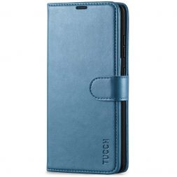 TUCCH Samsung Galaxy A52 Wallet Case Folio Style Kickstand With Magnetic Strap - Lake Blue