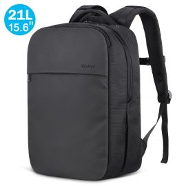 "21L Travel Backpack Fits 15.6"" Laptop, Water Resistant College Schoolbag"