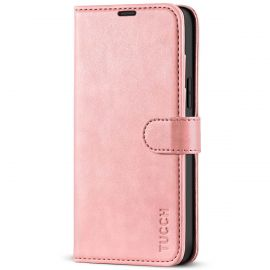 TUCCH iPhone 13 Pro Max Wallet Case, iPhone 13 Max Pro Book Folio Flip Kickstand With Magnetic Clasp-Rose Gold