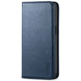 TUCCH iPhone 13 Pro Wallet Case - iPhone 13 Pro Flip Cover With Magnetic Closure-Dark Blue
