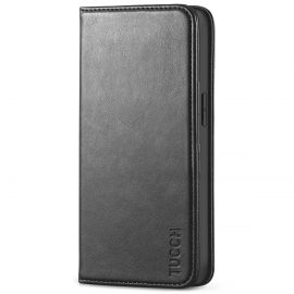 TUCCH iPhone 13 Pro Wallet Case - iPhone 13 Pro Flip Cover With Magnetic Closure-Black