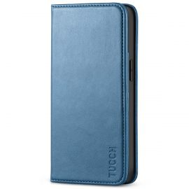 TUCCH iPhone 13 Pro Wallet Case - iPhone 13 Pro Flip Cover With Magnetic Closure-Light Blue