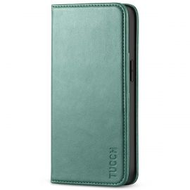 TUCCH iPhone 13 Pro Wallet Case - iPhone 13 Pro Flip Cover With Magnetic Closure-Myrtle Green