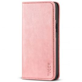 TUCCH iPhone 13 Pro Wallet Case - iPhone 13 Pro Flip Cover With Magnetic Closure-Rose Gold