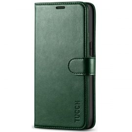 TUCCH iPhone 12 Mini Wallet Case Folio Flip Kickstand With Magnetic Clasp-Midnight Green