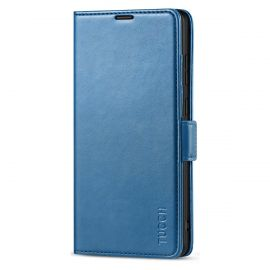 TUCCH Samsung S21 Ultra Wallet Case, Samsung Galaxy S21 Ultra 5G Flip PU Leather Cover, Stand with RFID Blocking and Magnetic Closure-Lake Blue
