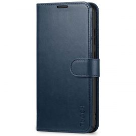 TUCCH Samsung Galaxy S20 Ultra Wallet Case Folio Style Kickstand With Magnetic Strap-Blue