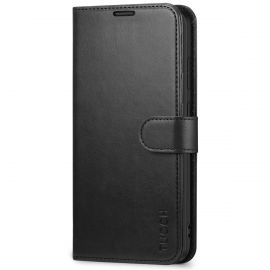 TUCCH Samsung Galaxy S20 Ultra Wallet Case Folio Style Kickstand With Magnetic Strap-Black