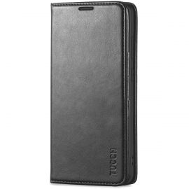 TUCCH Samsung S20 Ultra Wallet Case, Samsung Galaxy S20 Ultra /5G Flip PU Leather Cover, Stand with RFID Blocking and Magnetic Closure - Black